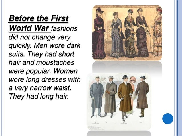 Fashion changes in the 20th century 62