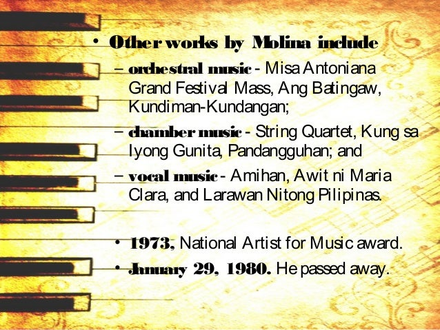 HILARION RUBIO Y FRANCISCO (1902 – 1985) • October 21, 1902 in Bacoor, Cavite. • A composer, music teacher, conductor, cho...