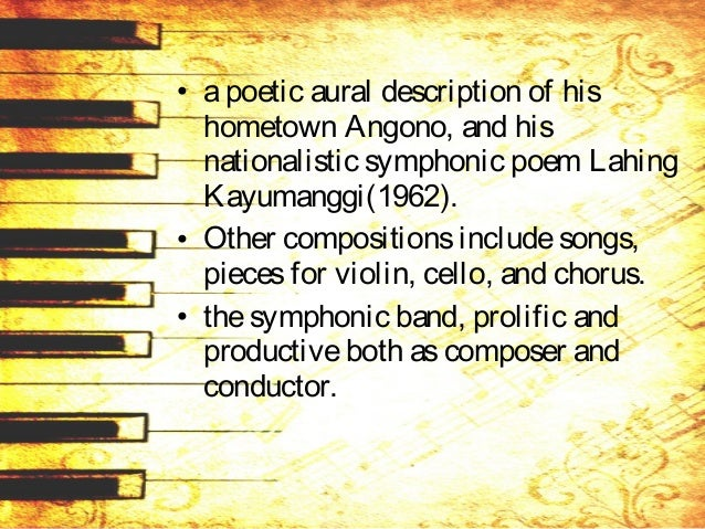 • Hismusical prowesswas internationally recognized when he wasinvited to beajudgeat the prestigiousVan Cliburn Internation...