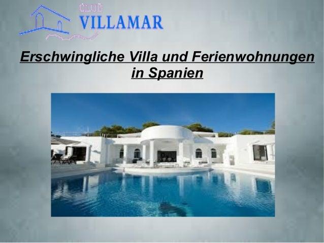 Erschwingliche Villa und Ferienwohnungen in Spanien 0