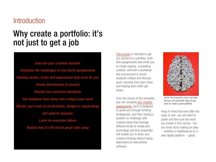 IntroductionWhy create a portfolio: it'snot just to get a job                                                             ...
