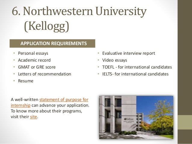 northwestern mba admissions essays This mba video essay charmed admissions officials and helped a  video essay,  provided by kellogg school of management at northwestern.
