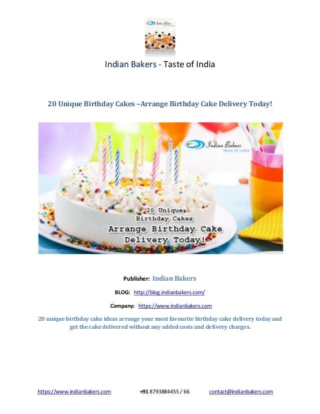 20 Unique Birthday Cakes Arrange Birthday Cake Delivery Today
