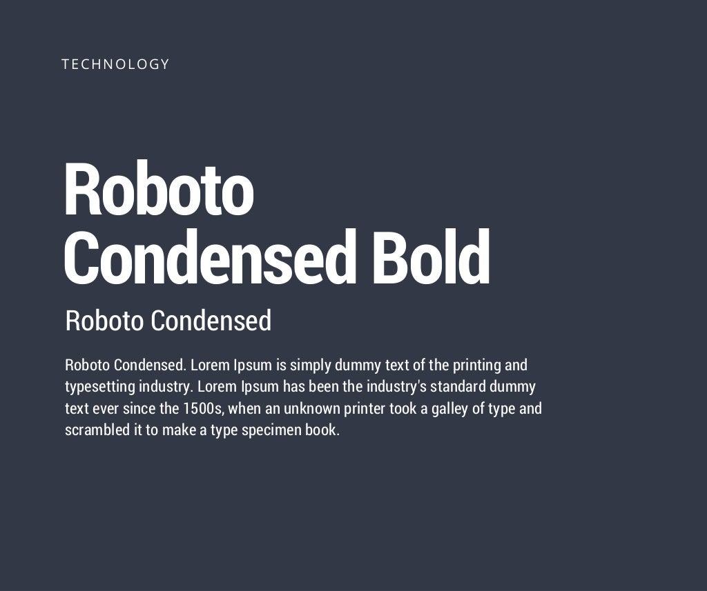 Roboto Condensed Bold Roboto Condensed