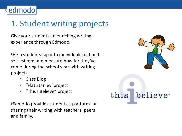 <ul><li>Give your students an enriching writing experience through Edmodo. </li></ul><ul><li>Help students tap into indivi...