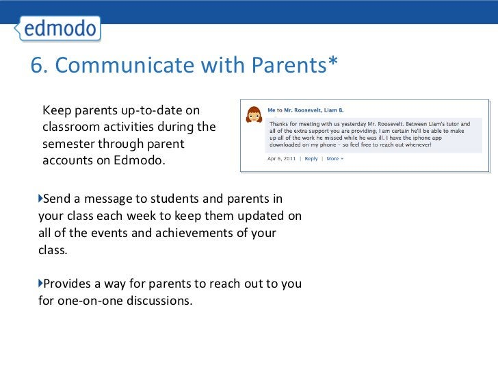 <ul><li>Send a message to students and parents in your class each week to keep them updated on all of the events and achie...