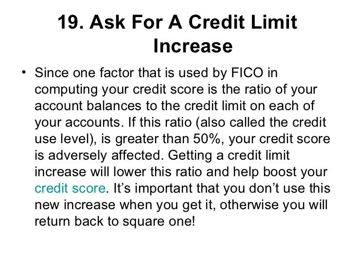 how to ask to increase your credit limit