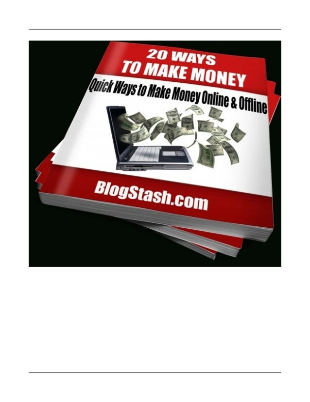 Disclaimer This e-book has been written to provide information on a few simple methods for making fast money both online a...