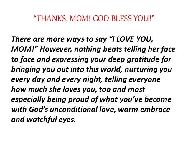 20 Ways To Say I LOVE YOU MOM