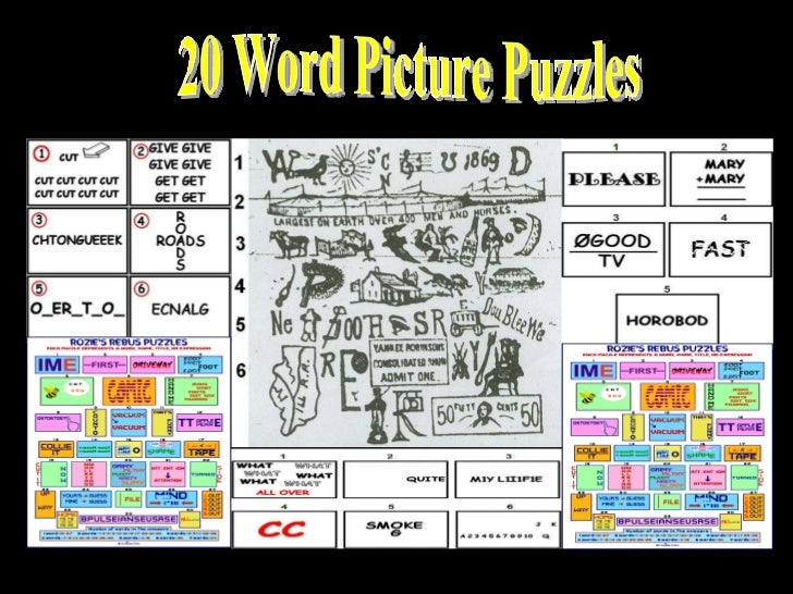 20 Word Picture Puzzles