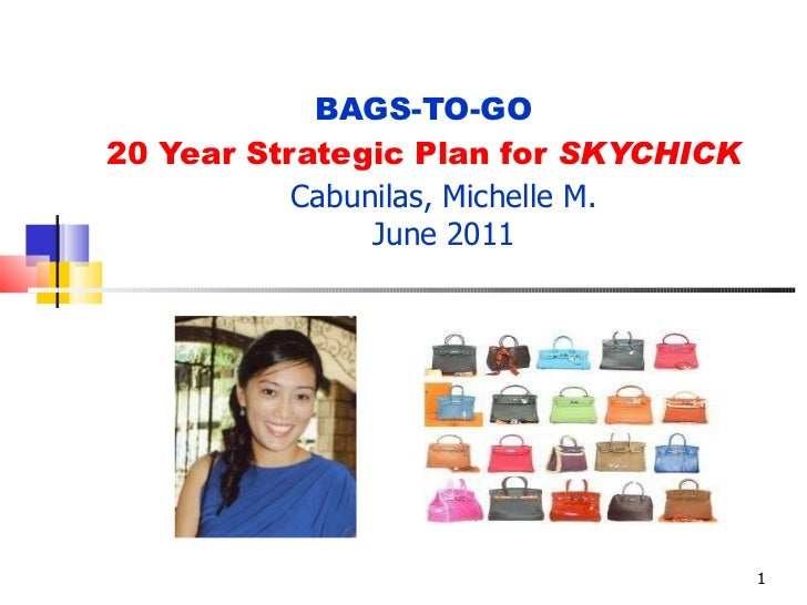BAGS-TO-GO 20 Year Strategic Plan for  SKYCHICK Cabunilas, Michelle M. June 2011