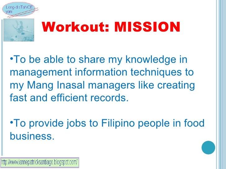 Mang inasal business plan