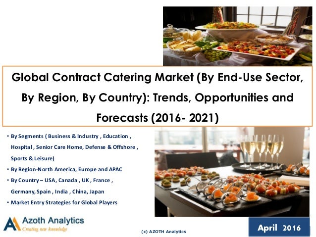 (c) AZOTH Analytics April 2016 Global Contract Catering Market (By End-Use Sector, By Region, By Country): Trends, Opportu...