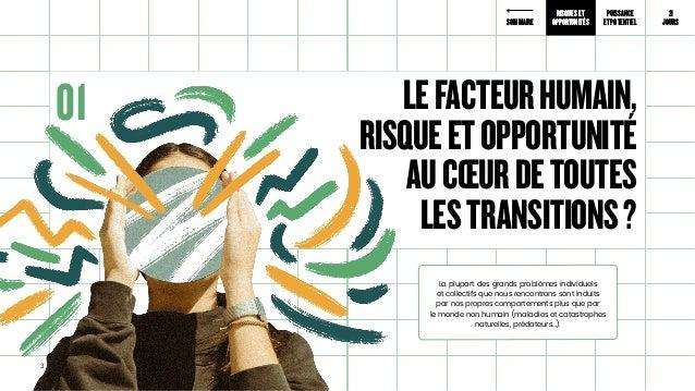 Le facteur Humain au coeur des transitions #facteurhumain Slide 3