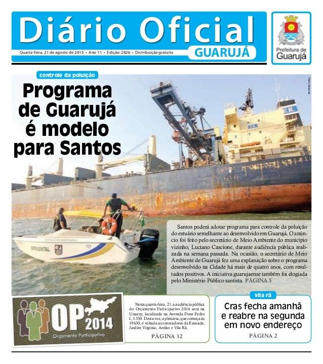 Cras fecha amanhã e reabre na segunda em novo endereço Página 2 vila rã controle da poluição Santos poderá adotar programa...