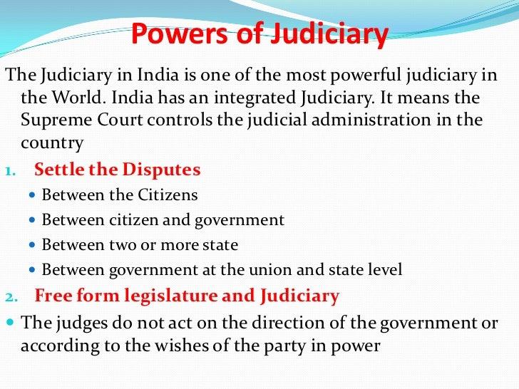 judicial control over administration