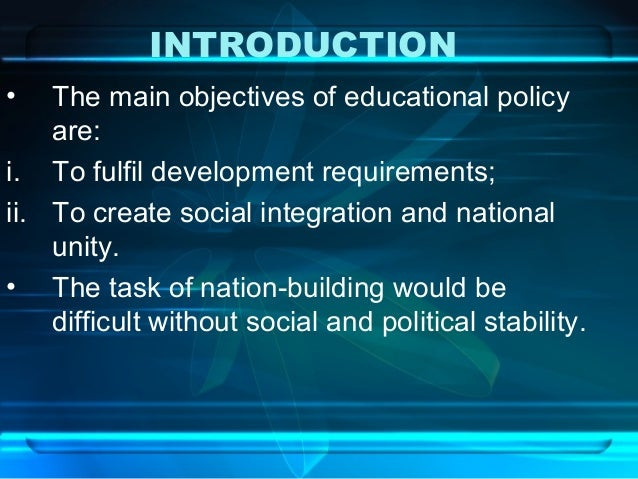 national policy on education National portal of india is a mission mode project under the national e-governance plan, designed and developed by national informatics centre (nic), ministry of electronics & information technology, government of india.