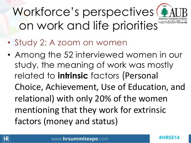Workforce's perspectives on work and life priorities • Study 2: A zoom on women • Among the 52 interviewed women in our st...