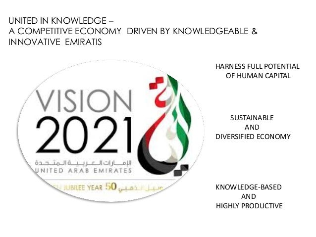UNITED IN KNOWLEDGE – A COMPETITIVE ECONOMY DRIVEN BY KNOWLEDGEABLE & INNOVATIVE EMIRATIS HARNESS FULL POTENTIAL OF HUMAN ...