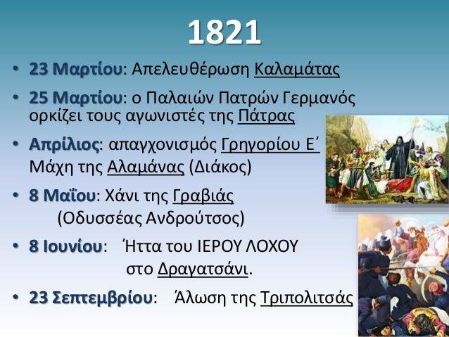 σημαντικα γεγονοτα επαναστασης 21 Slide 2