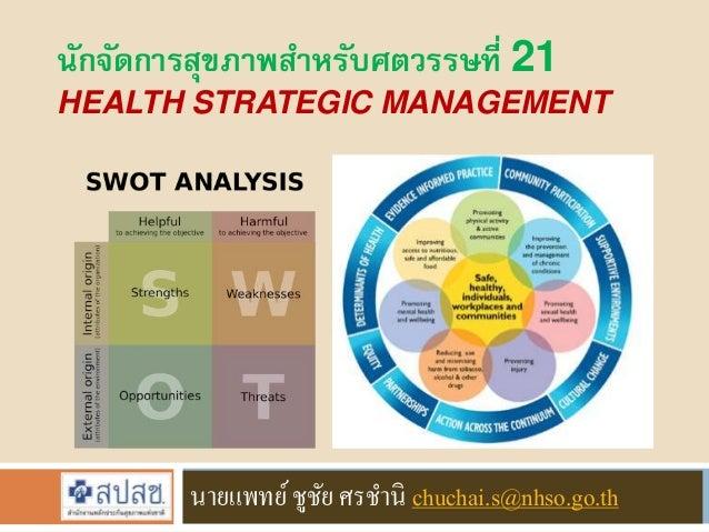 นักจัดการสุขภาพสา หรับศตวรรษที่ 21  HEALTH STRATEGIC MANAGEMENT  นายแพทย์ ชูชัย ศรชานิ chuchai.s@nhso.go.th