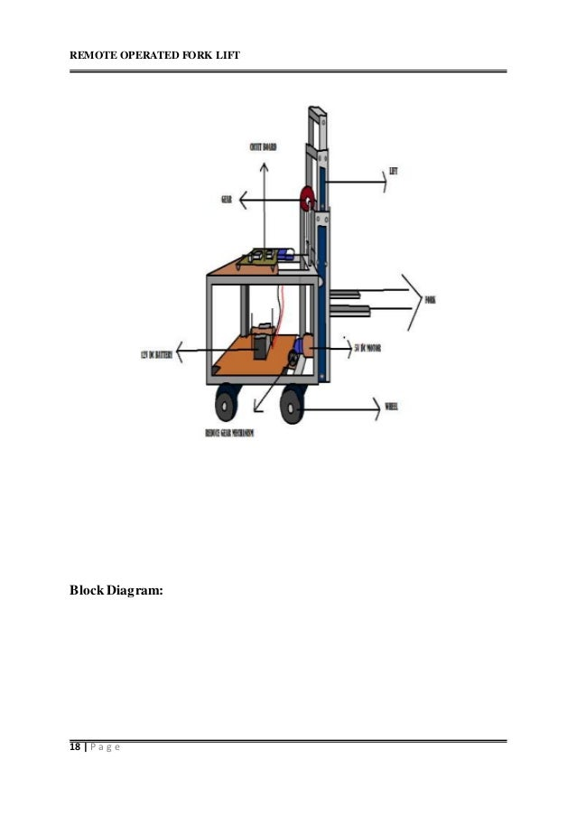 Remote operated fork lift remote operated fork lift 18 p a g e block diagram ccuart Images