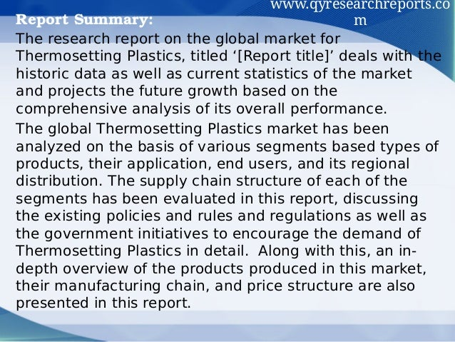the thermosetting plastics engineering essay Polymers and plastics technology handbook  engineering plastics polyamides abs  polics are thermosetting resins which are typically stiff and brittle.