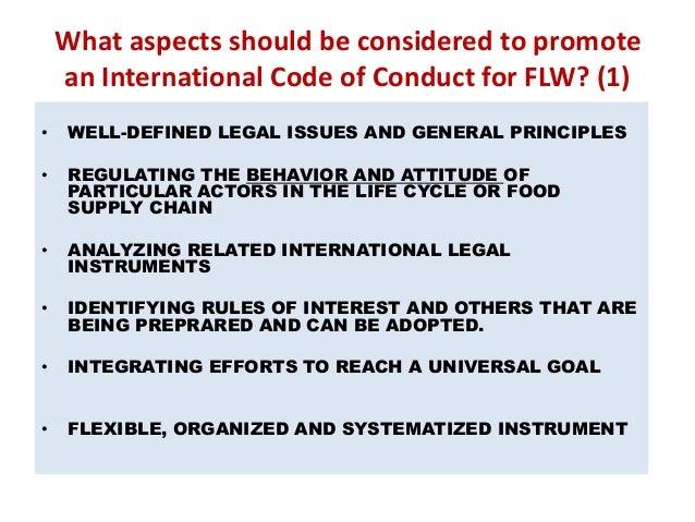 Code of Ethics in Restaurants