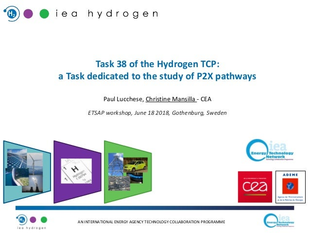 AN INTERNATIONAL ENERGY AGENCY TECHNOLOGY COLLABORATION PROGRAMME Task 38 of the Hydrogen TCP: a Task dedicated to the stu...