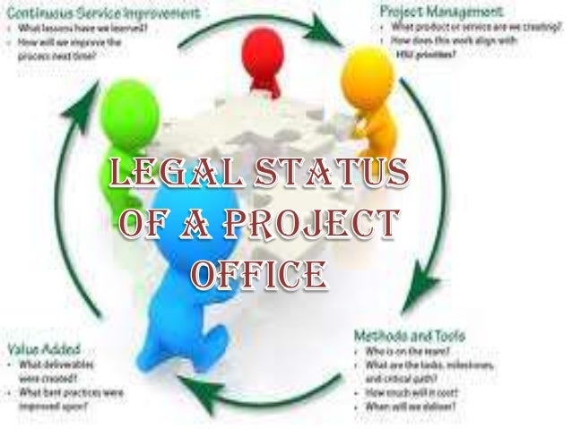 • Project office is a branch or department within a  business, agency or enterprise that defines and  maintains the standa...