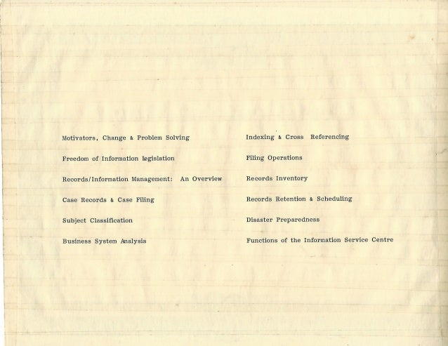 Certificate of Merit Records Management Workshop JARD – Merit Certificate Comments