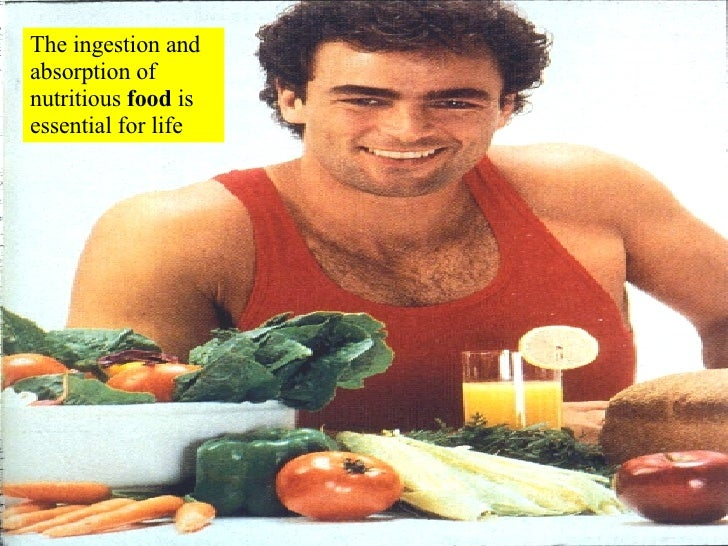 The ingestion and absorption of nutritious  food  is essential for life