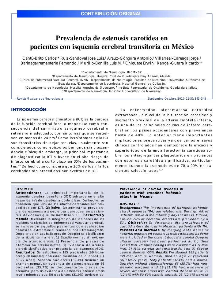 CONTRIBUCIÓN ORIGINALRev Mex Neuroci 2010; 11(5): 343-348                                                                 ...