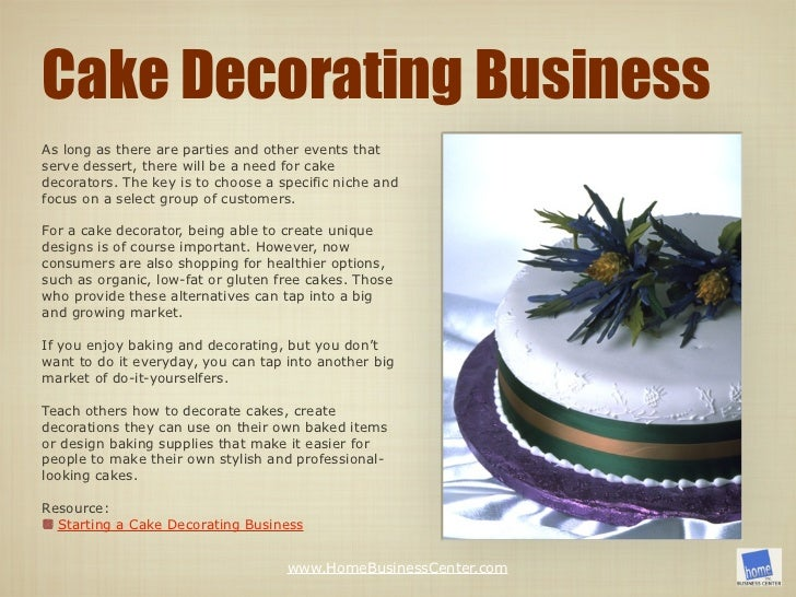 Cake Decorator Job Responsibilities : 21 Food Business Ideas You Can Start from Home