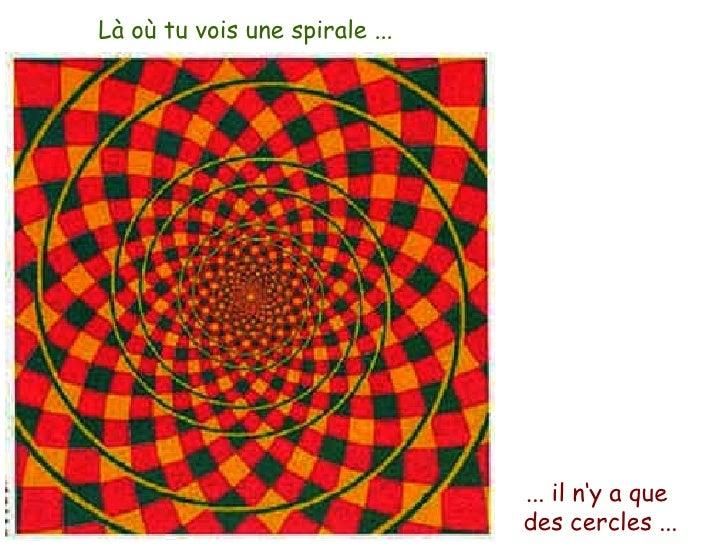 Là où tu vois une spirale ... ... il n'y a que  des cercles ...