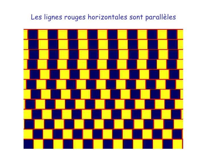 Les lignes rouges horizontales sont parallèles