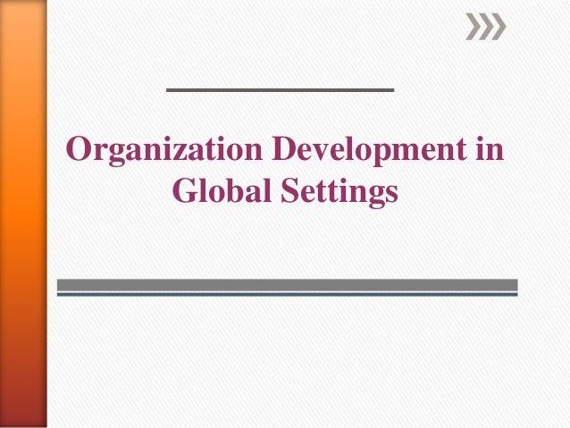 Organizational development in global settings
