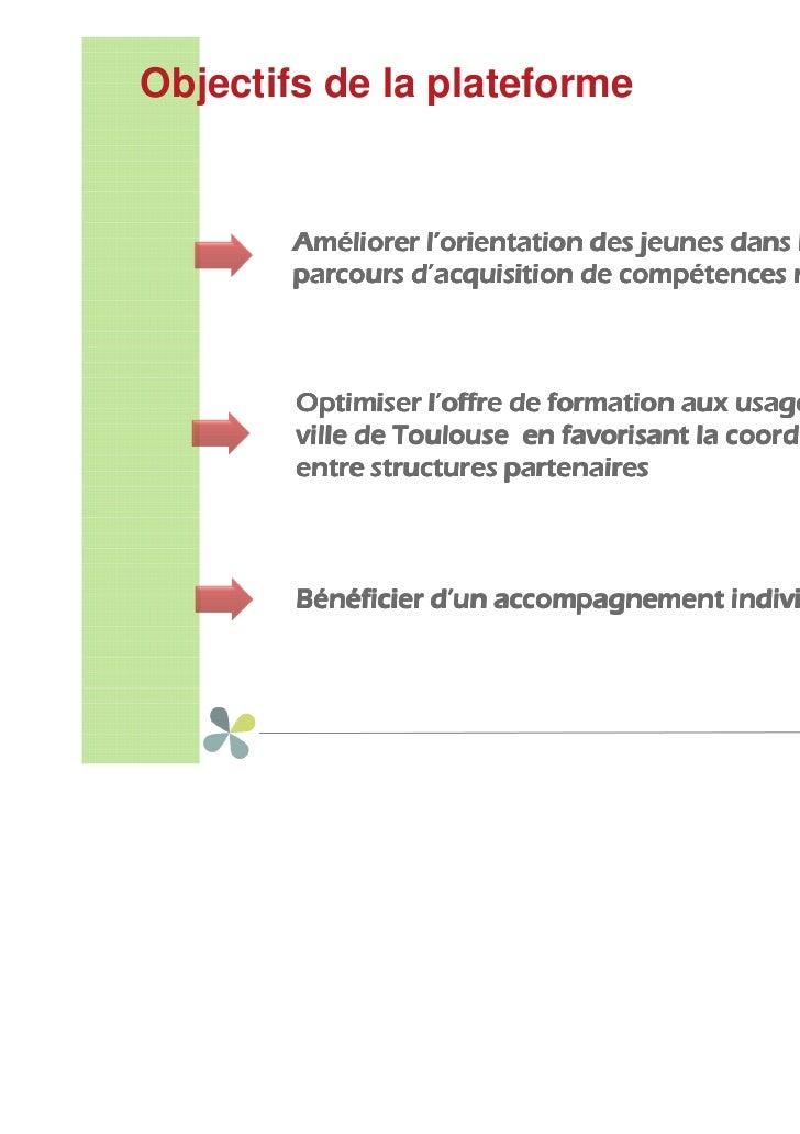Thierry COSTES, Mission locale de Toulouse : PRATIC : plateforme d'accompagnement des parcours de formation TIC Slide 3