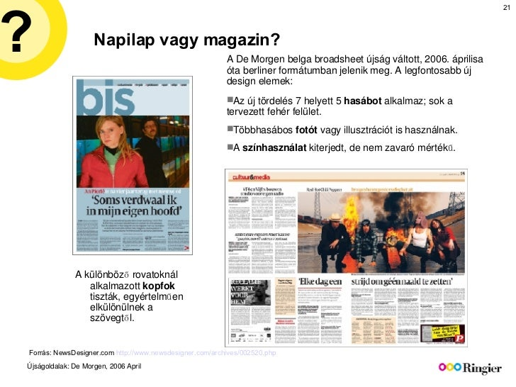 Napilap vagy magazin? <ul><li>Internet </li></ul>Forrás: NewsDesigner.com  http://www.newsdesigner.com/archives/002520.php...