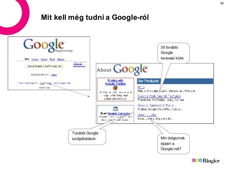 Mit kell még tudni a Google-ról  30  további Google keresési  trükk További Google szolgáltatások Min  dolgoznak éppen  a ...