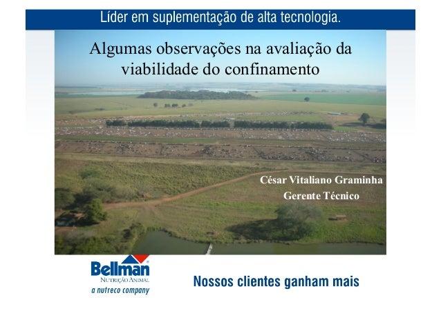 Algumas observações na avaliação da    viabilidade do confinamento                      César Vitaliano Graminha          ...