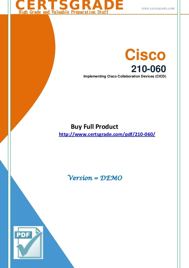 210 060 Certification