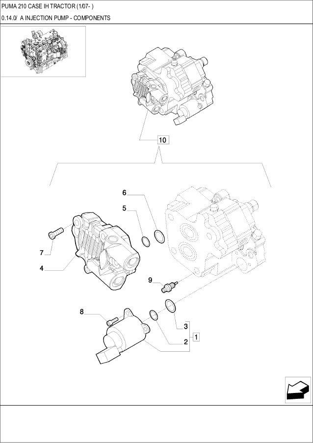 PUMA 210 CASE IH Tractor parts catalog