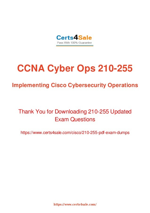 CCNA Cyber Ops 210-255 Expert Exam Dumps with Latest
