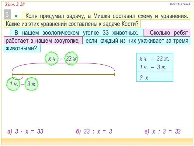 Придумать задачу по математике 3 класс с решением яковлев сборник задач решения