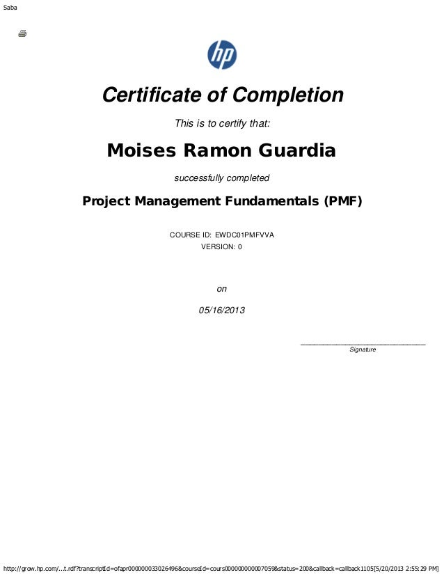 Project Management Fundamentals (PMF) certificate.PDF