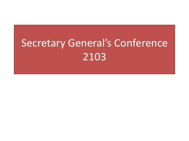 Secretary General's Conference2103