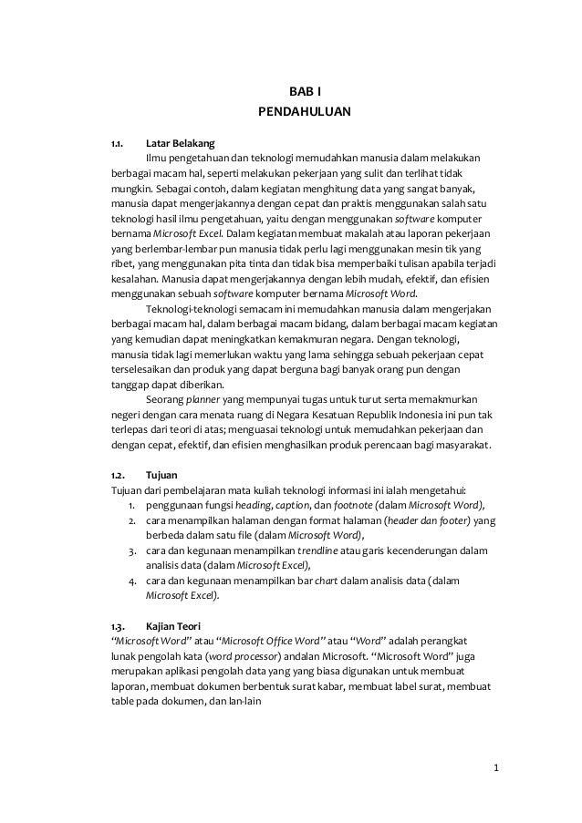 Laporan Praktikum Ti Semester 1 Microsoft Word Dan Excel