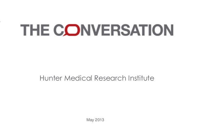 Hunter Medical Research Institute May 2013