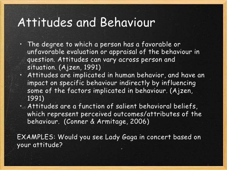 attitudes personality behavior ajzen Undergraduate students' attitudes toward, and personality undergraduate students' attitudes toward, and personality influences attitudes and behavior (ajzen.